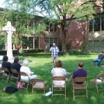 Outdoor Worship in First Pres Garden
