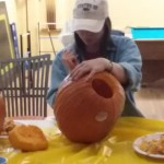 Pumpkin Carving in Youth Hall